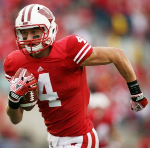 Badgers walk on wideout jared abbrederis from wautoma is poised