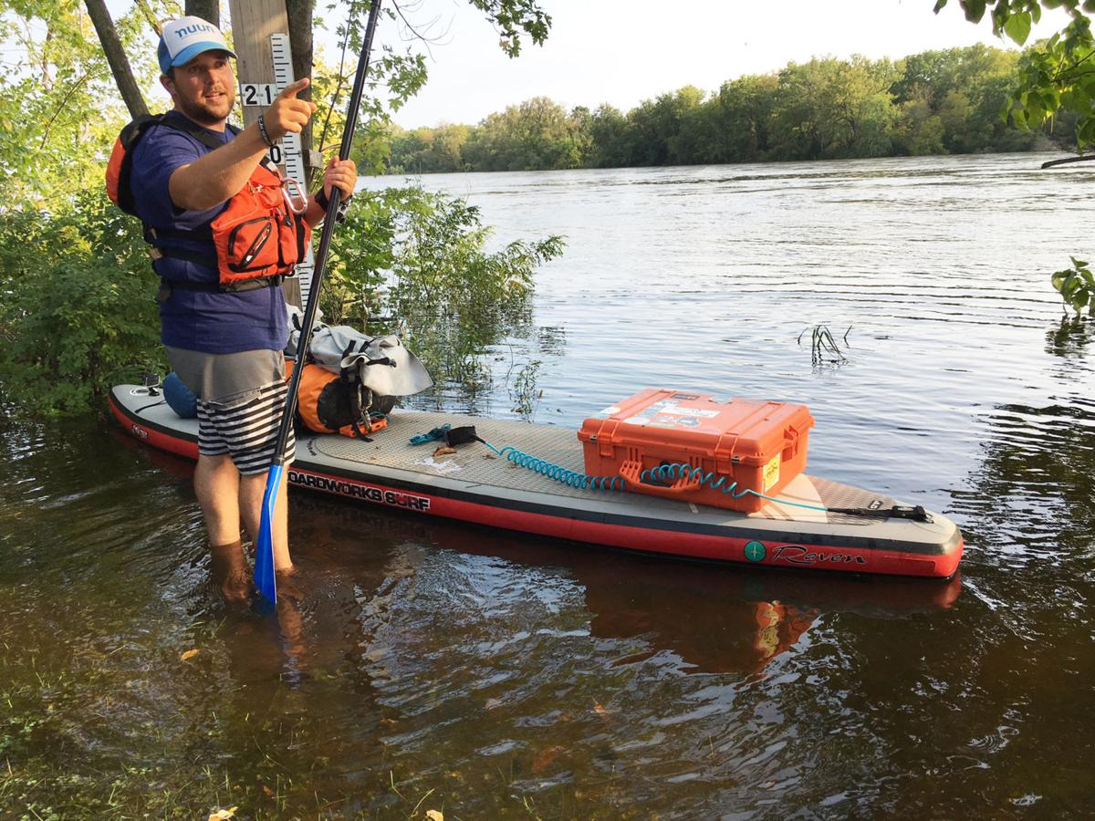 Adventurer paddle boards length of wisconsin river