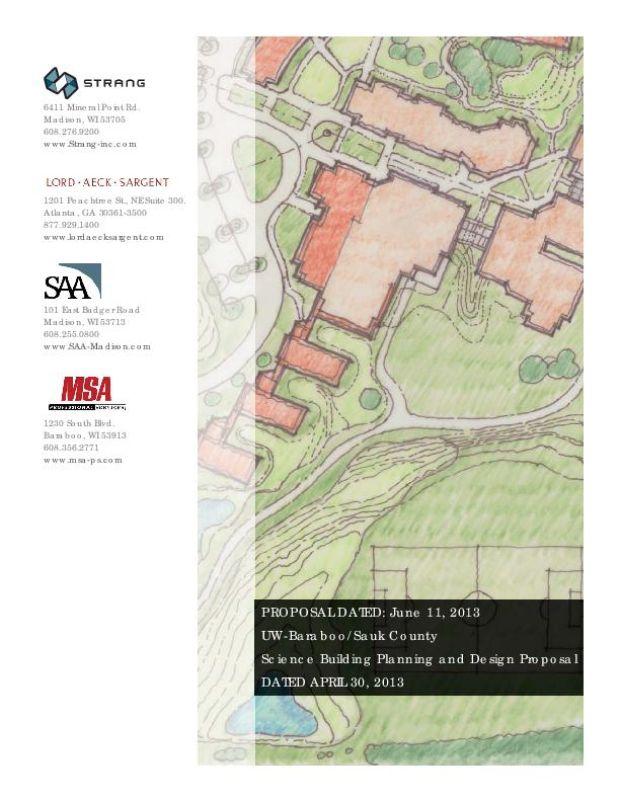 UW-BSC proposal, Strang, Inc.