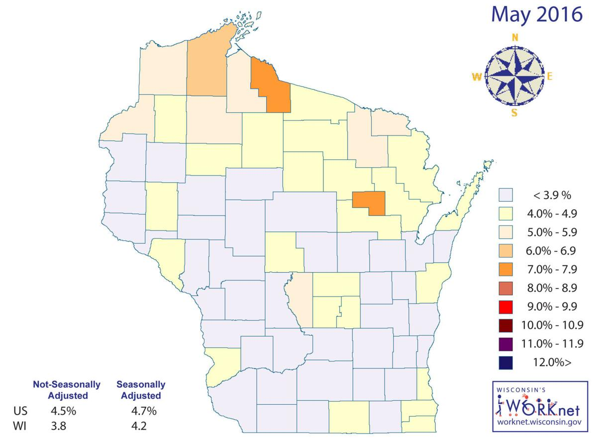 Sauk County Unemployment Improves In May Regional News - Us counties with lowest unemployment rate