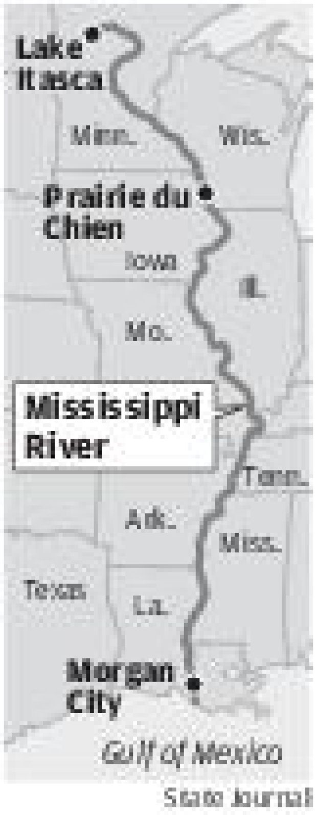 Mississippi River route
