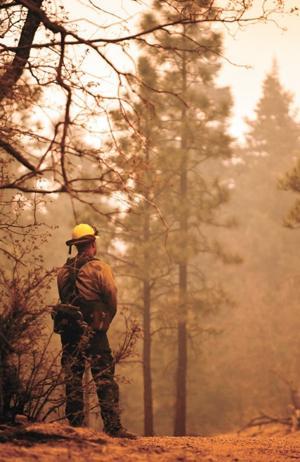 Wallow fire; firefighter from Telluride