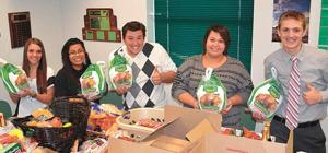 Thanksgiving food boxes help 50 needy families