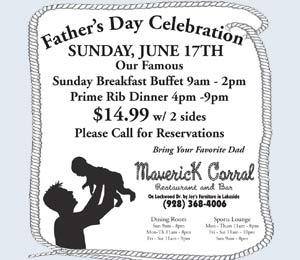 Father's Day Celebration Sunday June 17th, Maverick Corral