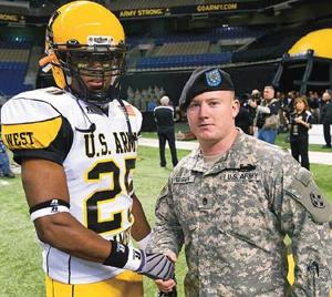 Vaughn honored as soldier-hero at All-American Bowl