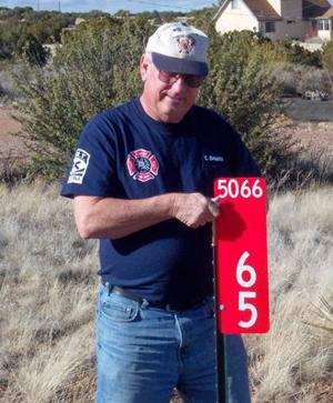 "<p>Firefighter/EMT Craig Schultz has been the driving force behind the development and installation of these ""important"" signs.</p>"