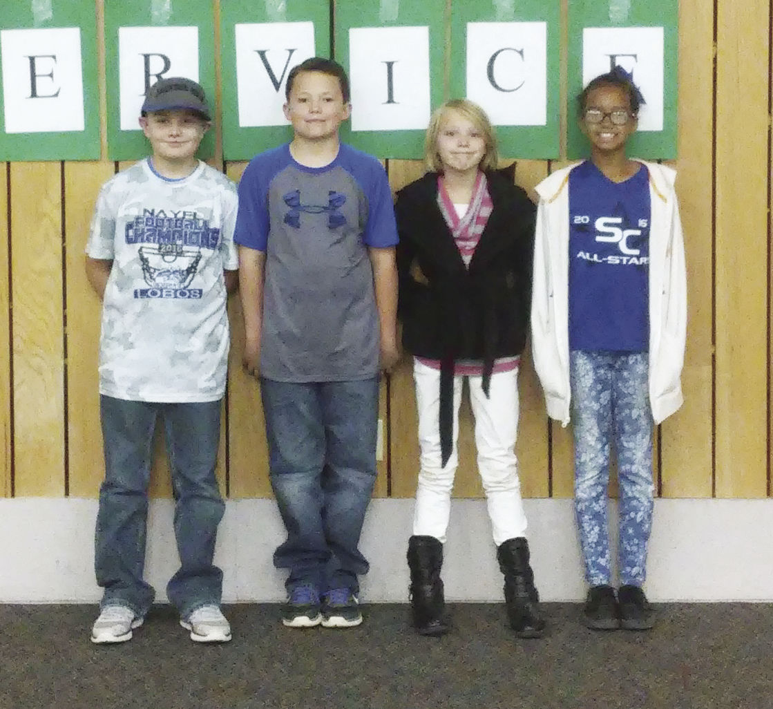 Taylor Intermediate Honors Students At PAWS Assembly