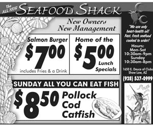 The All New Seafood Shack! $5 Lunch Specials, All You Can Eat Fish Sunday!