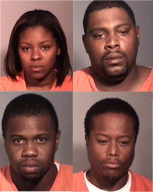 Four arrested after 11 pounds of liquid PCP found during traffic stop