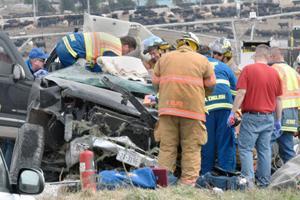 Seat belt helps save life