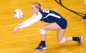 York junior Erin Malleck volleyball
