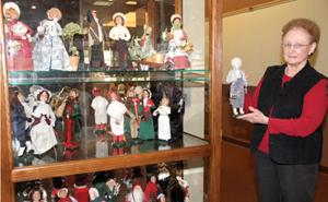 Carol Withee's collection of Byers Choice Carolers