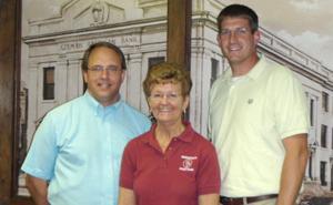 Henderson State Bank 'Meal Deal' Nancy Kelch, Todd Bartek, Dr. Pat Hotovy