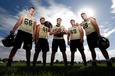 The West High offensive line
