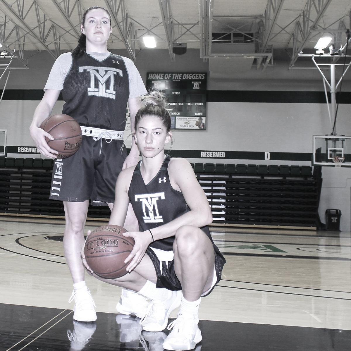 Tech WBB - Kaylee Zard and Tavia Rooney