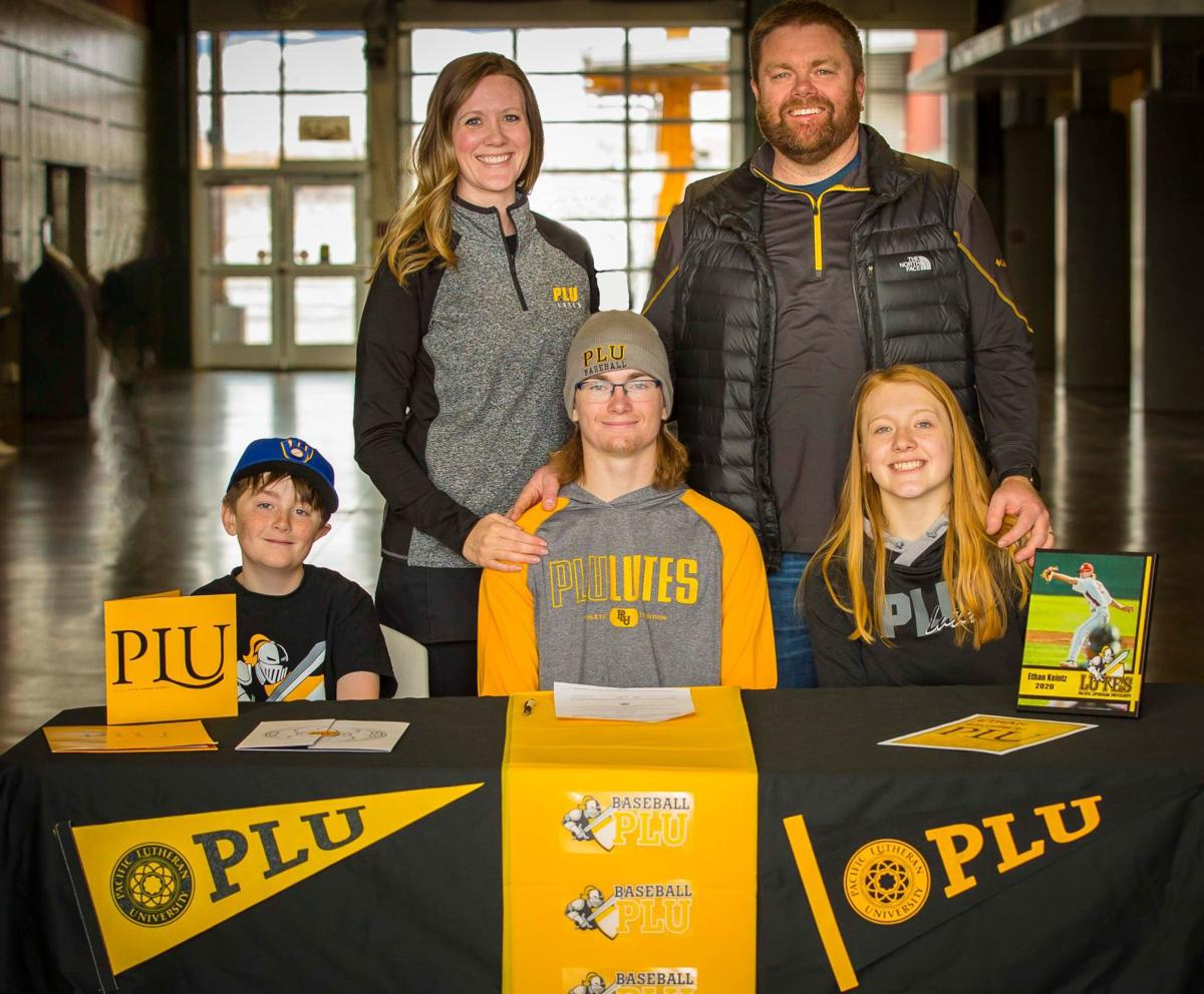 Ethan Keintz signs with Pacific Lutheran University