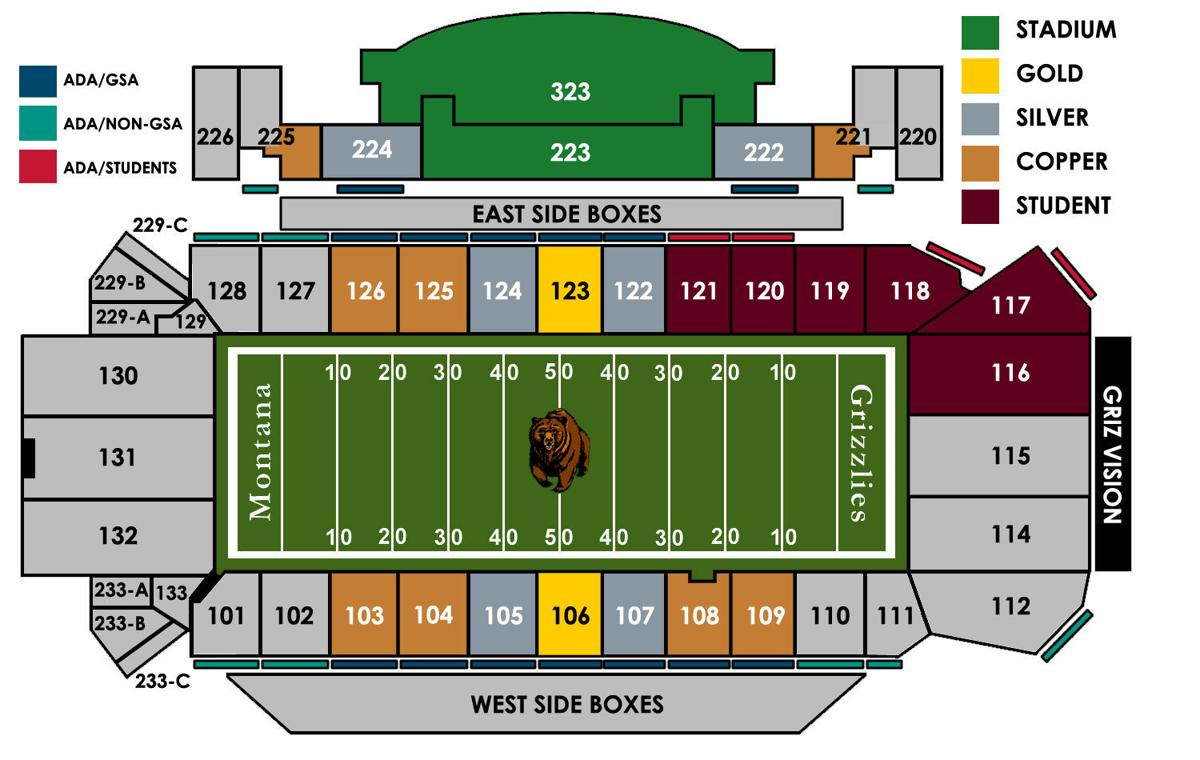 2017 Washington-Grizzly Seating Map