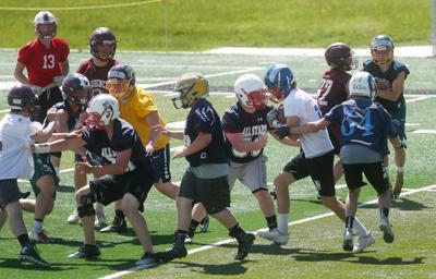 Class B All-Star football practice