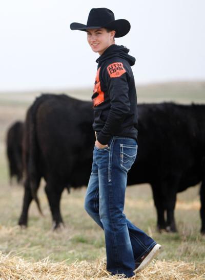 Jess Lockwood stands in a field