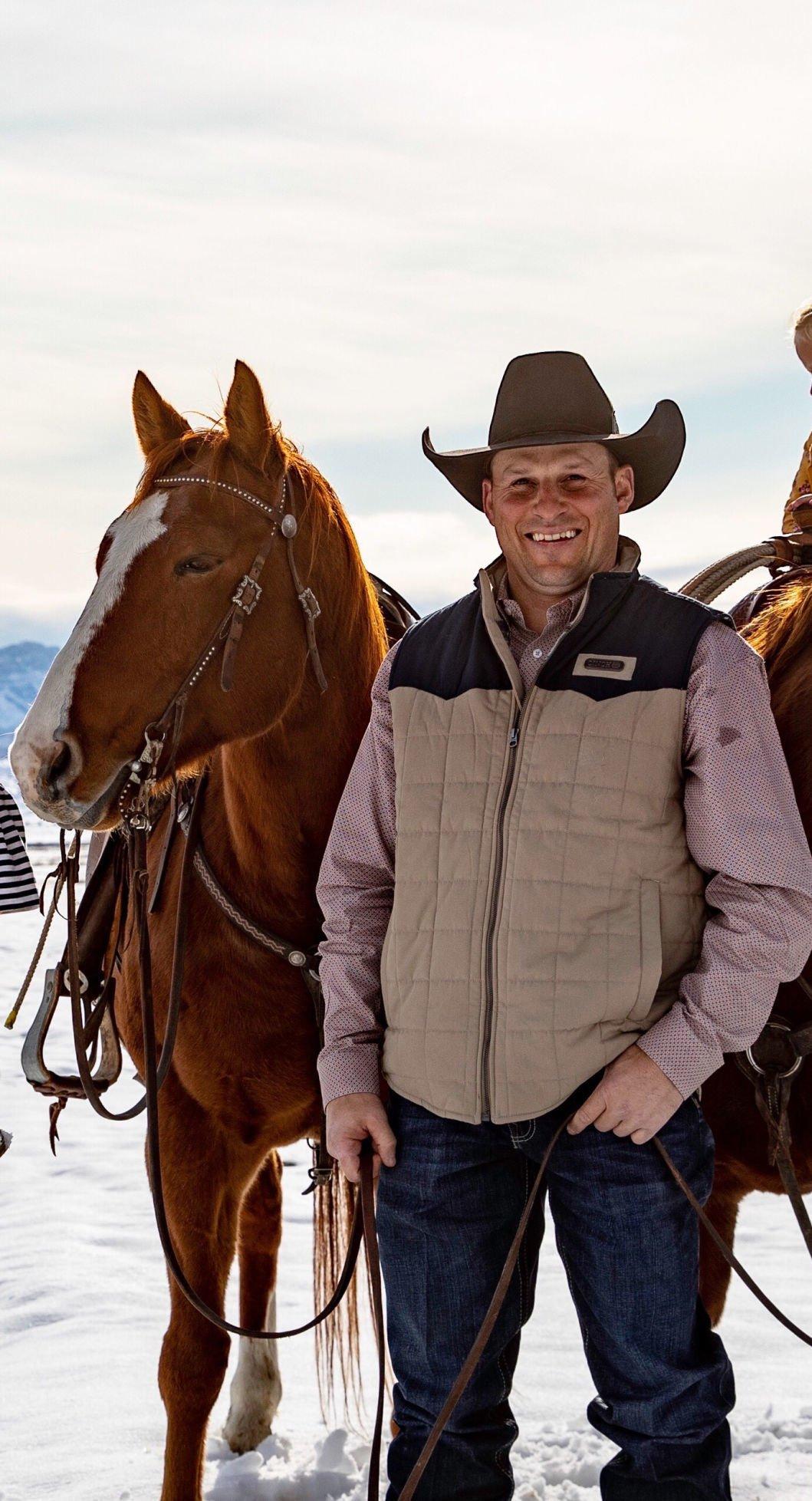 Jessy Davis with horses