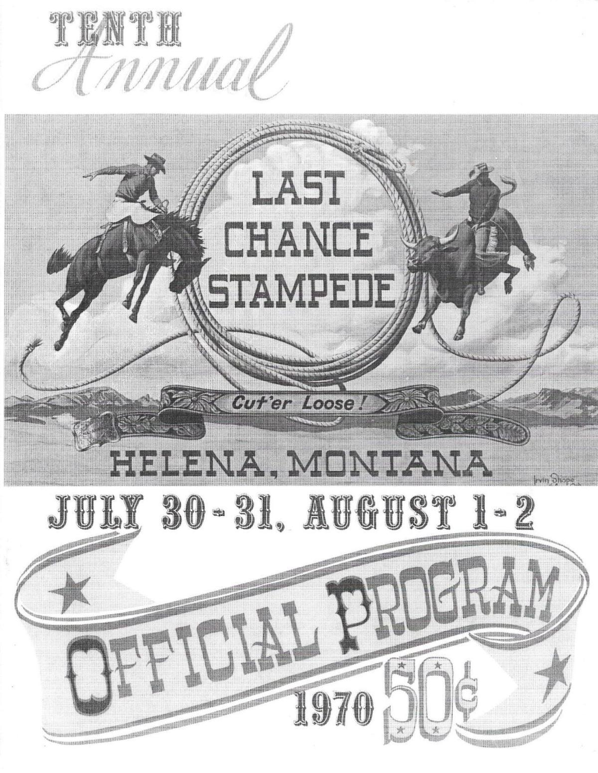 Program from 1970 Last Chance Stampede
