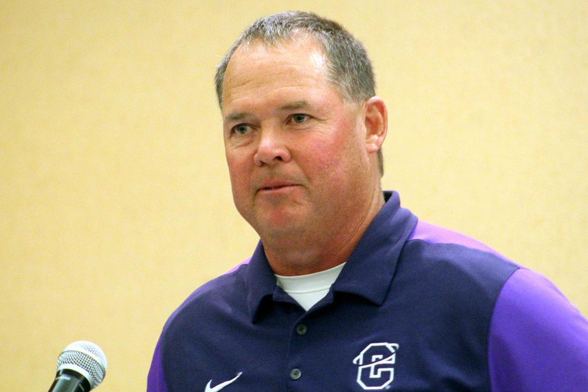 Carroll College football coach Troy Purcell