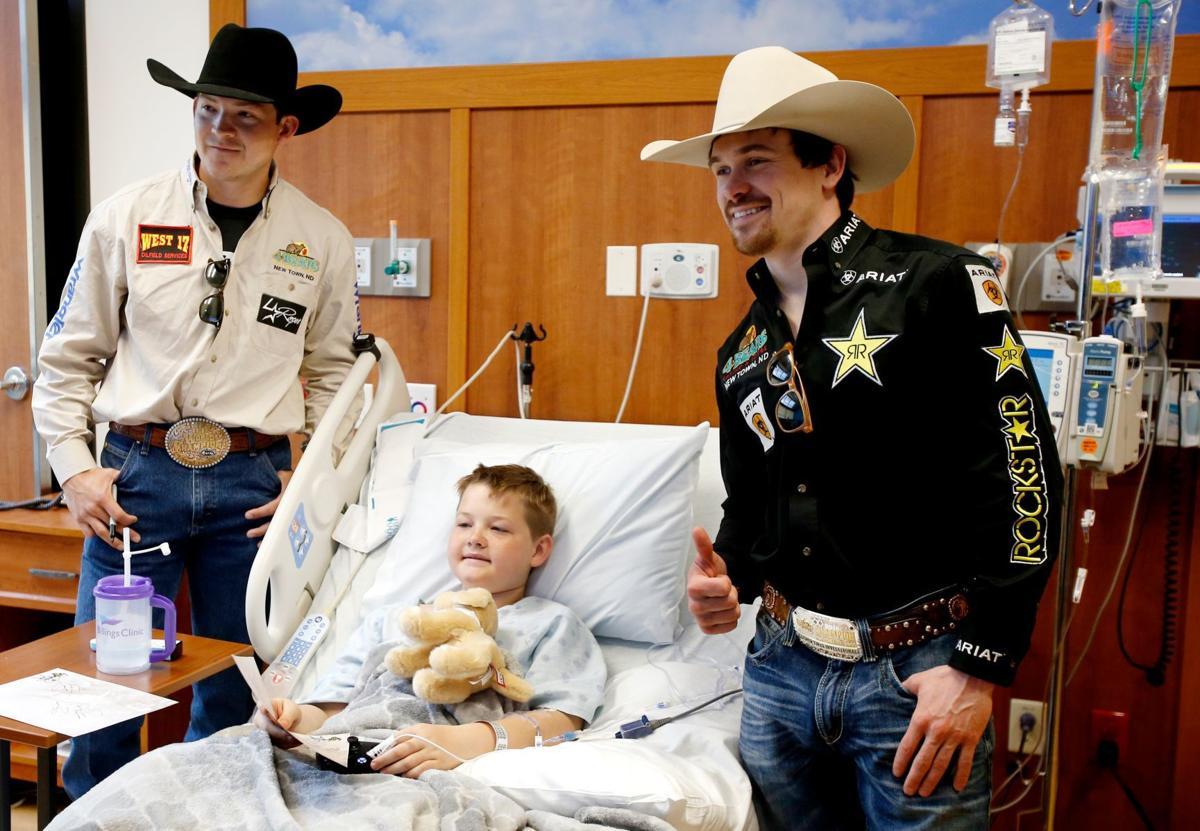 PBR bull riders Matt Triplett and Dakota Louis