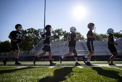 Billings Senior's first football practice