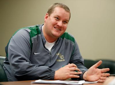 Rocky Mountain College head football coach Chris Stutzriem