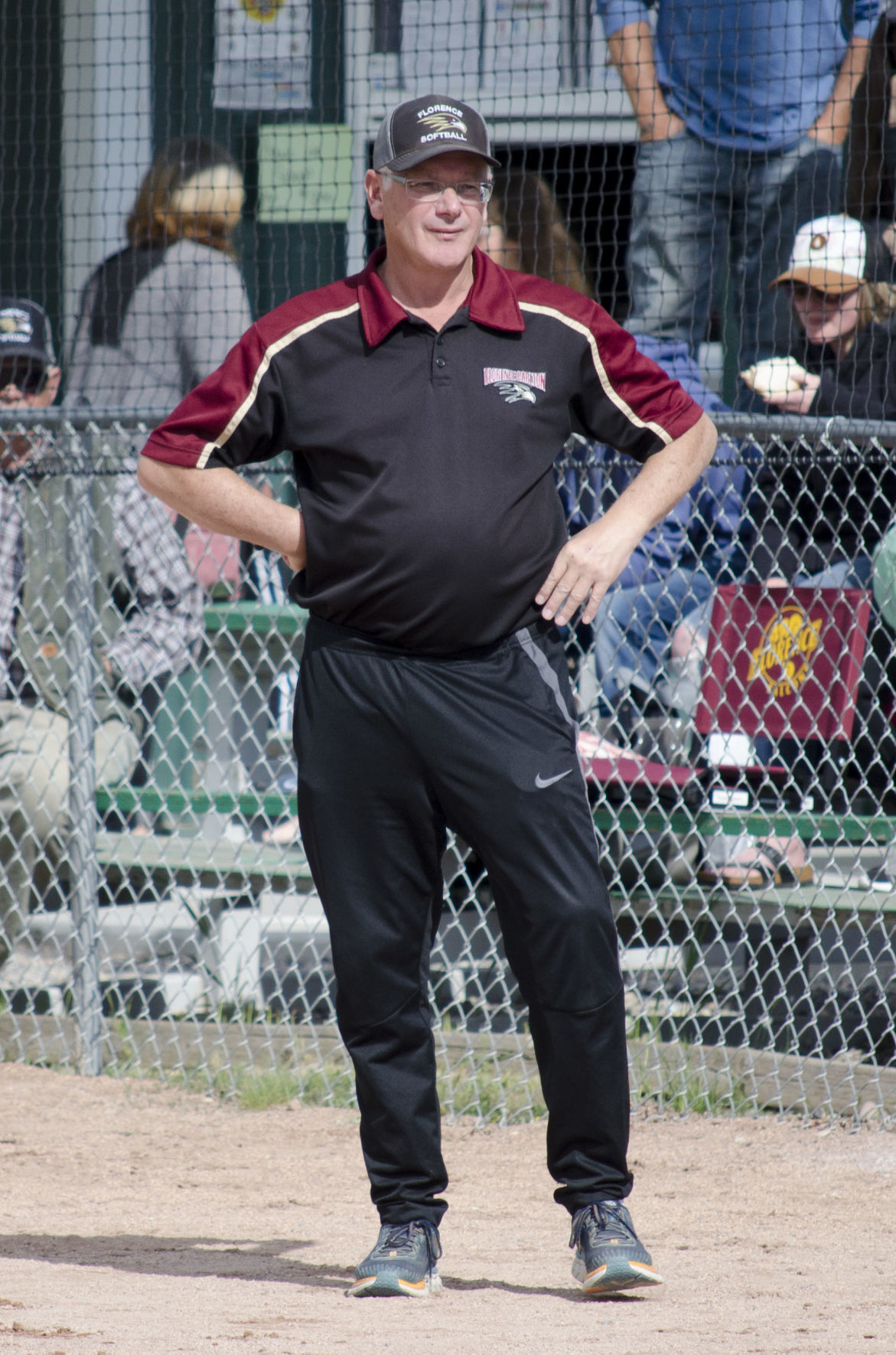 Florence softball coach Rob Ralls