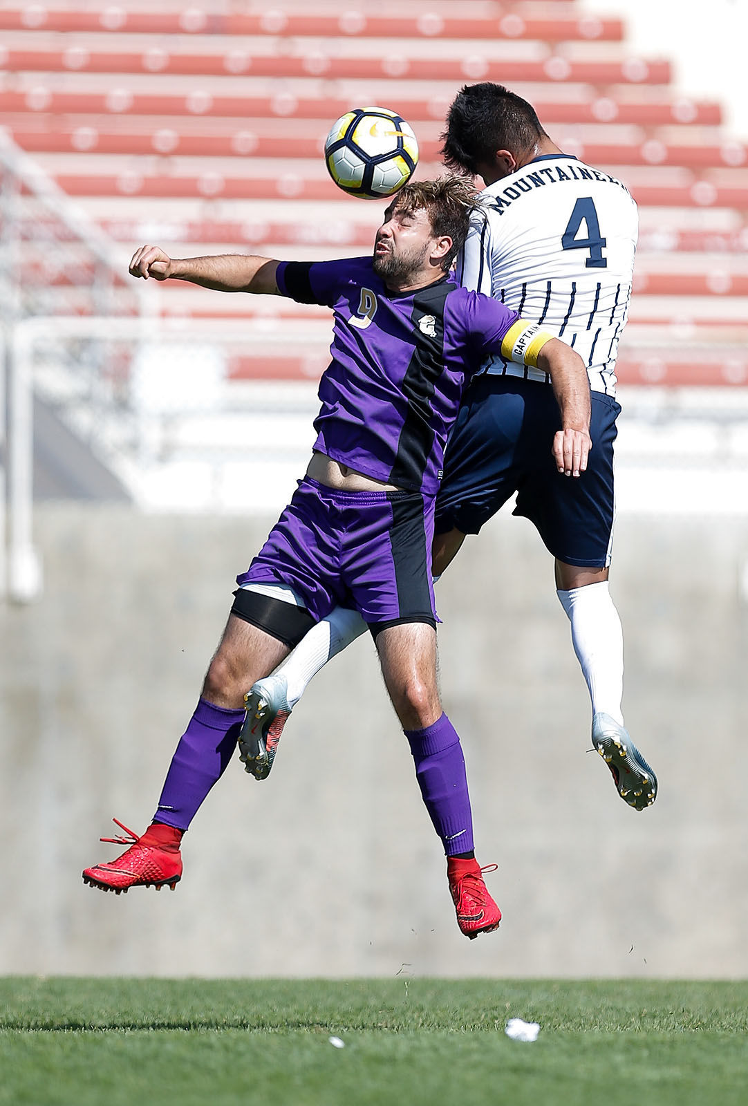 Carroll s Jose Porras heads the ball near midfield against Eastern Oregon  Sunday at Nelson Stadium. The Saints lost 4-0 to the Mountaineers. 1752f79d9b8