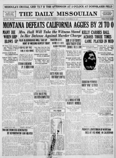 Montana UC Davis 1926 full
