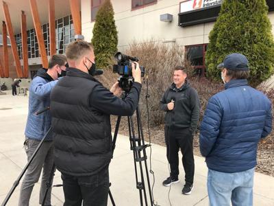 Brian Holsinger interviewing