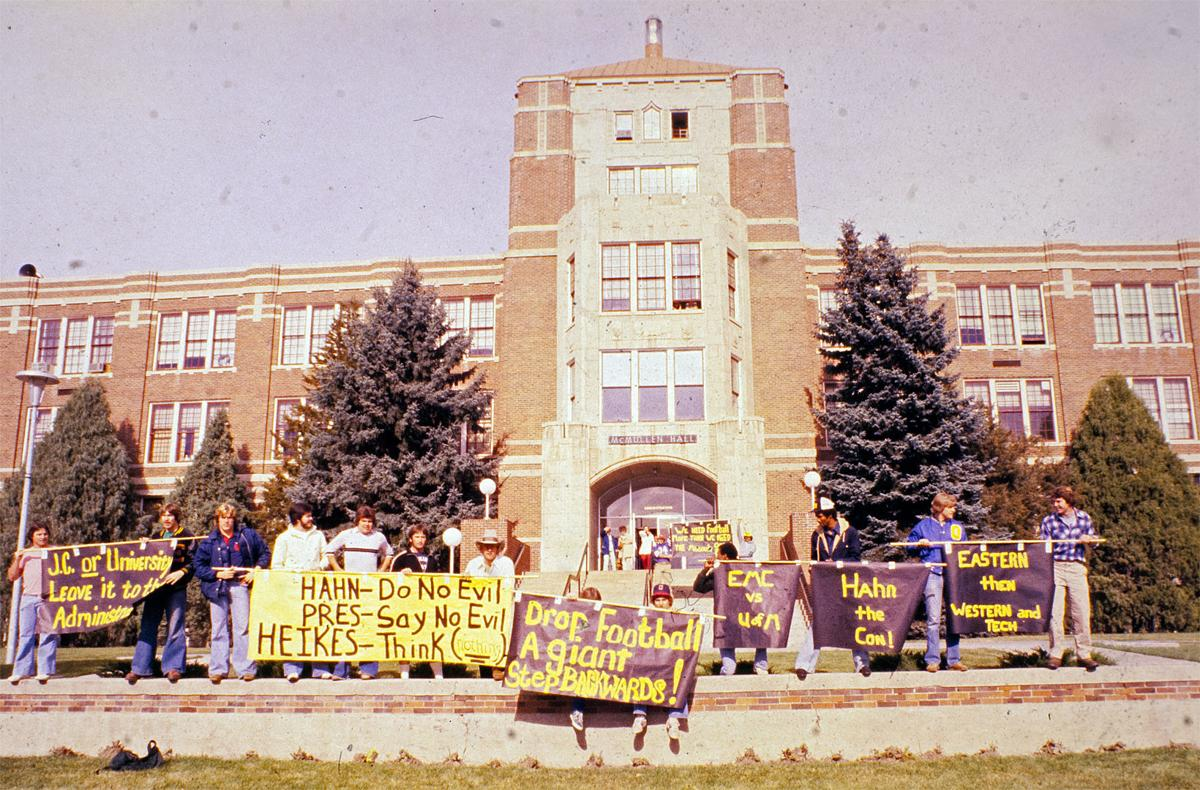 Eastern Montana College football rally, 1978