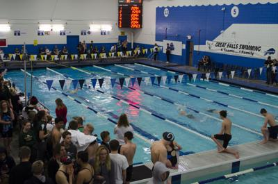 State swimming at Great Falls High