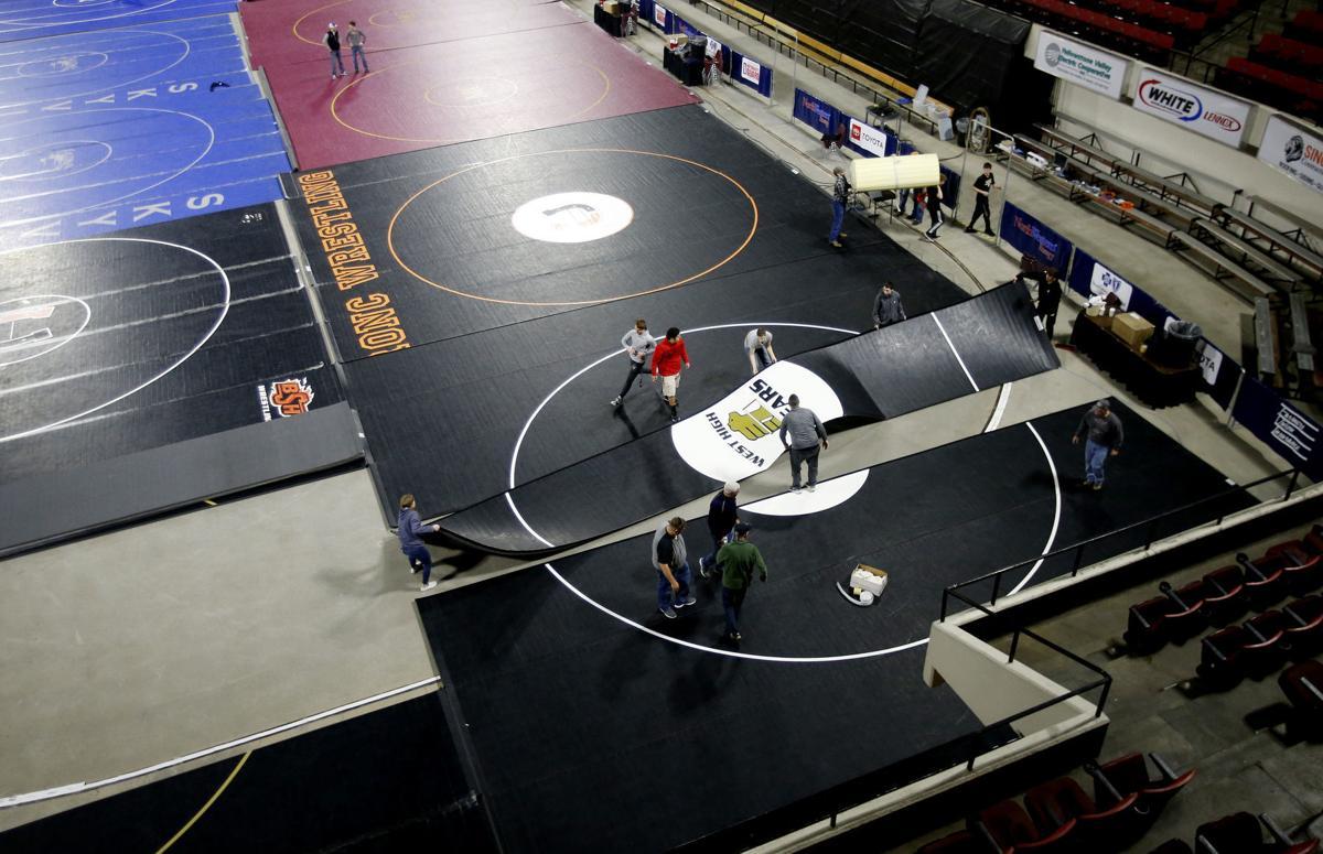 Wrestling tourney setup