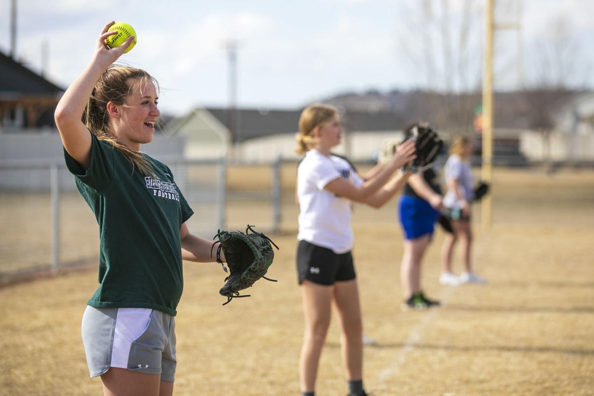 Billings Central softball practice