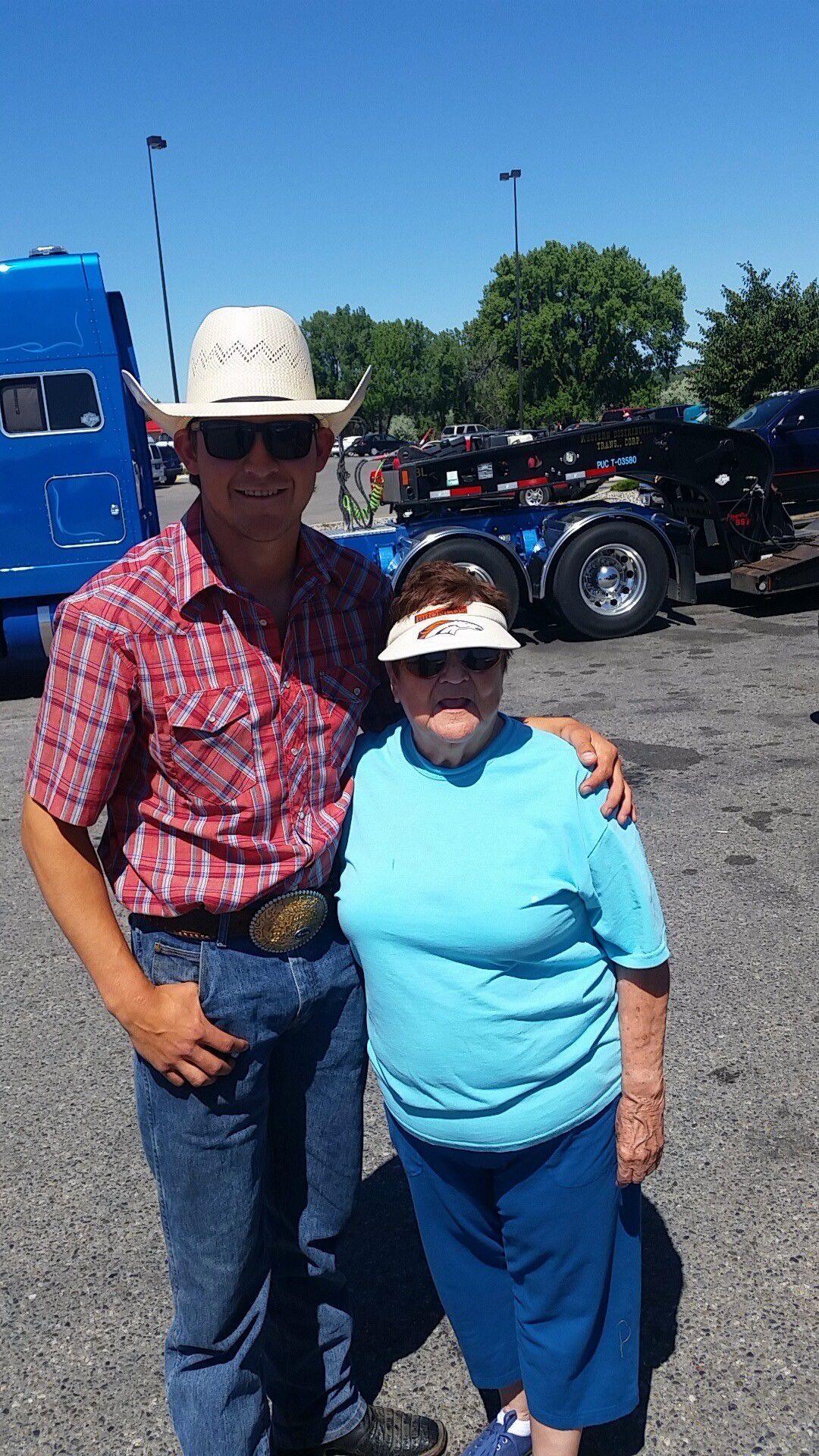 Dakota Louis and his grandmother Nathel Show