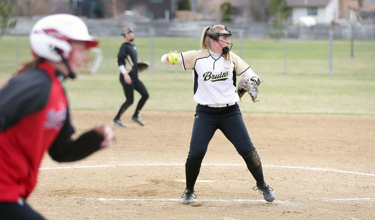 Helena Capital's Nicole Ames catches a short hit