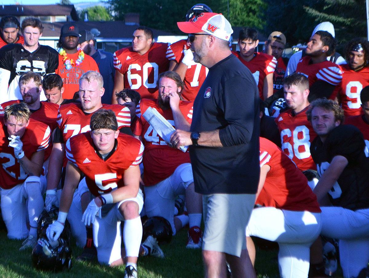 Western football scrimmage