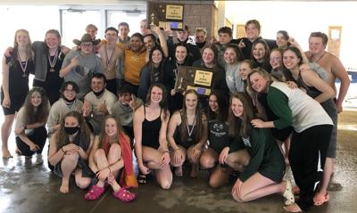 2021 A-B swimming state champions - Billings Central Rams