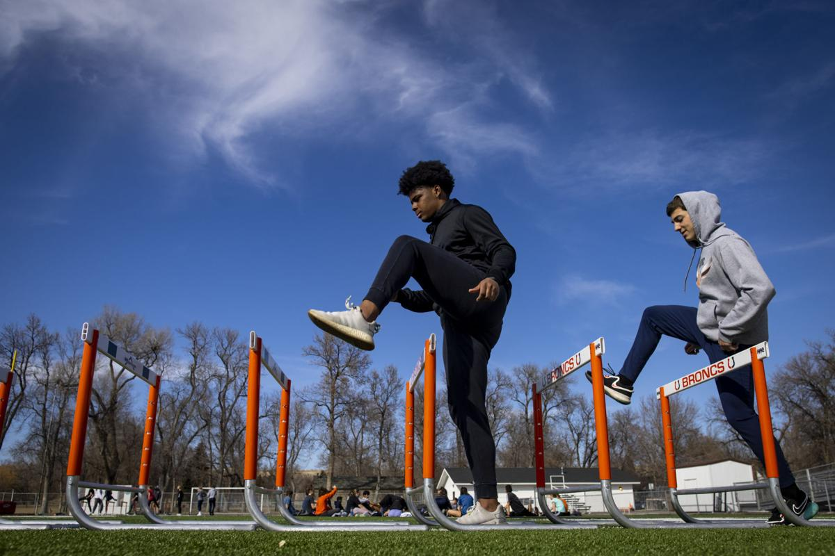 Billings Senior track and field practice