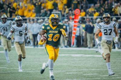 Montana States Defense Cant Catch North Dakota State Running Back Lance Dunn During A 52 10 Second Round Playoff Loss Sa Ay In Fargo N D