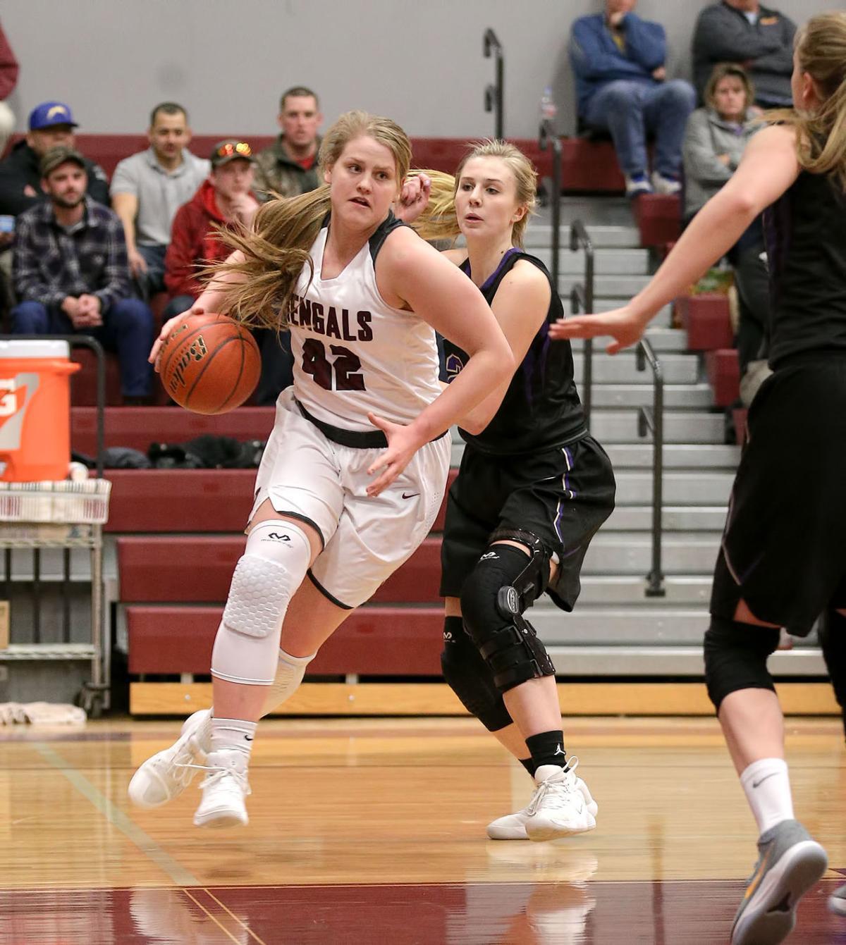 girls basketball; HHS vs Sentinel