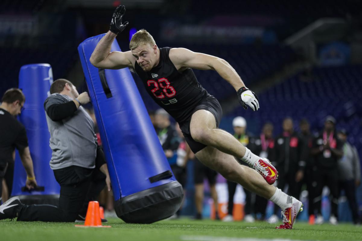 NFL Combine Football Dante Olson