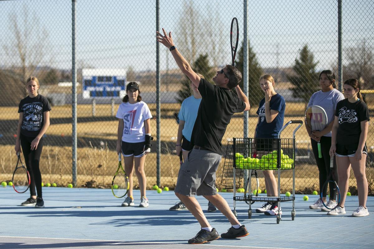 Skyview tennis practice