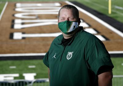 Rocky Mountain College football coach Chris Stutzriem