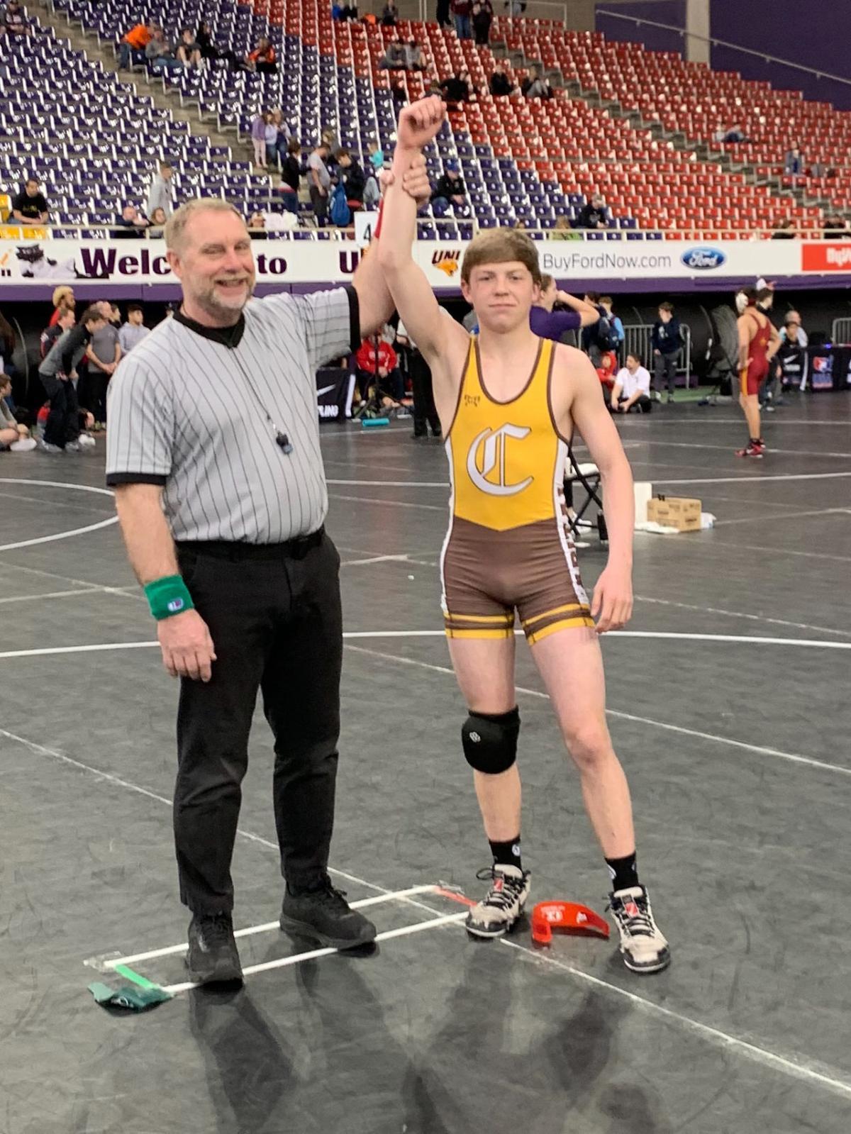 Helena Capital wrestler Carson DesRosier