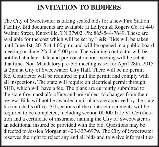 INVITATION TO BIDDERS