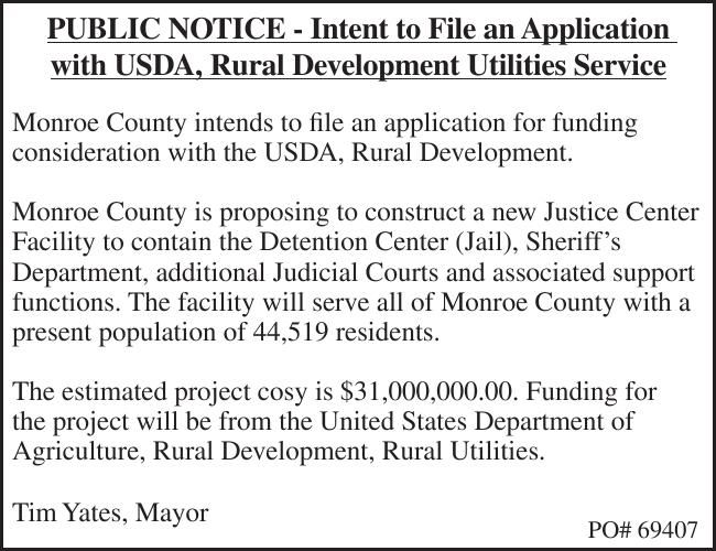 PUBLIC NOTICE - Intent to File an Application